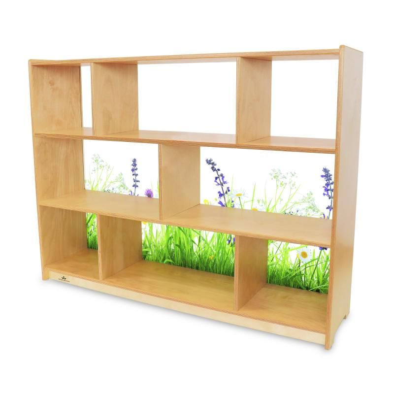 Nature View Acrylic Back Cabinet 36h