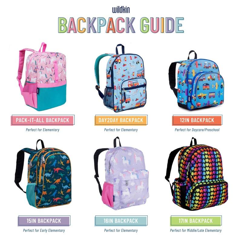 Rainbow Hearts 15 Inch Backpack