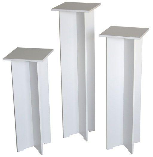 "Xylem Quick Set Pedestal, White: Single, 11-1/2"" x 11-1/2"" Body Size"