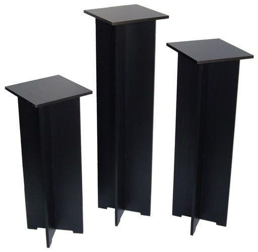 "Xylem Quick Set Pedestal, Black: Single 11-1/2"" x 11-1/2"" Body Size"