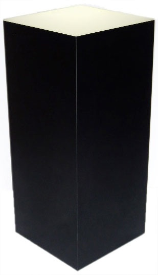 "Xylem Lighted Black Laminate Pedestal: 18"" x 18"" Base"
