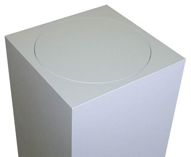 Xylem White Laminate Pedestal: Small & Tabletop Sized