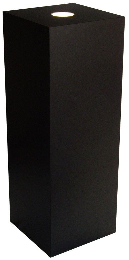"Xylem Black Laminate Spot Lighted Pedestal: 18"" x 18"" Base"