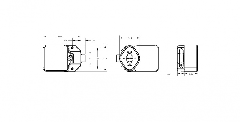 Rfid Lock Electronic Rfid Lock, Spring Latch, User Card Access, 1 User Card Incl., For Hinge On Right